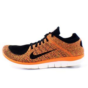 Nike Free 4.0 Flyknit Mens Size 13 Black / Orange